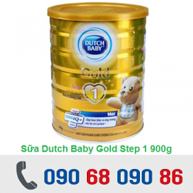 SỮA CÔ GÁI HÀ LAN DUTCH BABY GOLD STEP 1 900G (0 - 6 THÁNG)
