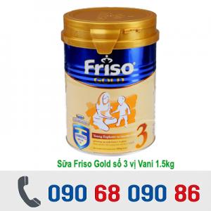 SỮA FRISO GOLD SỐ 3 VỊ VANI 1,5KG ( 1-3 TUỔI )